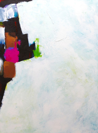 """Aberration (In the Heartland of the Real)"" - 2011 - 30""x40"" - Acrylic on Canvas"