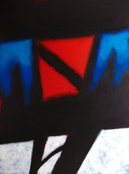 """Told and Not Told"" - 2011 - 36""x48"" - Acrylic on Canvas"