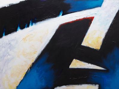 """Bid My Blood to Run"" - 2011 - 40""x30"" - Acrylic on Canvas"
