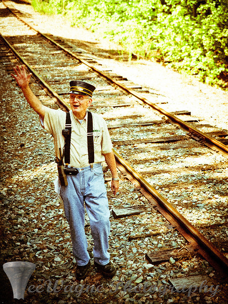 'The Conductor' 'Bonsal Railroad', 'TeeWayne Photography', Cary, NC Photographer, Cary, NC Gallery  - © TeeWayne Photography Bonsal Railroad - New Hope Valley Railroad