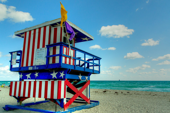 South Beach Life Guard Stands
