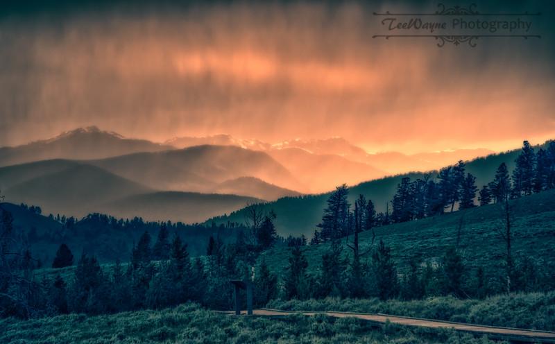 Sunset Storm YNP-LG