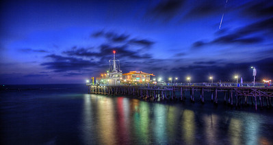 Santa Monica Pier at Night Santa Monica, CA Taken during the LA photowalk organized by Trey Ratcliff and Tom Anderson.
