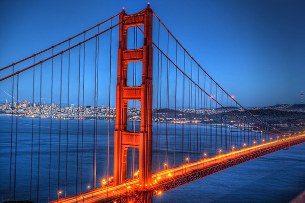 Golden Gate After Sunset