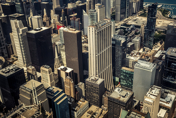 View from Sears Tower, Chicago, Il