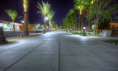 Downtown Coachella at Night Yes, its normally this empty.