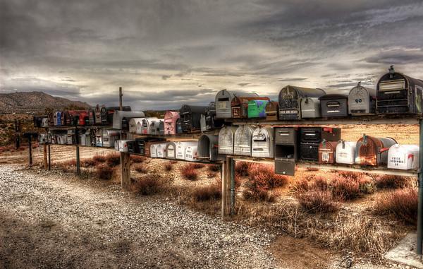 Boxes hwy 74, California