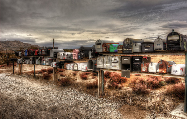 Boxes hwy 74, California