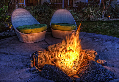 Firepit @ Riviera Hotel Palm Springs California
