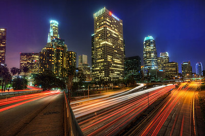 Downtown Los Angeles Taken from the 4th street bridge.