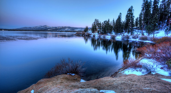 Big Bear Lake at Sunset Big Bear, California Taken from the north side of the lake.