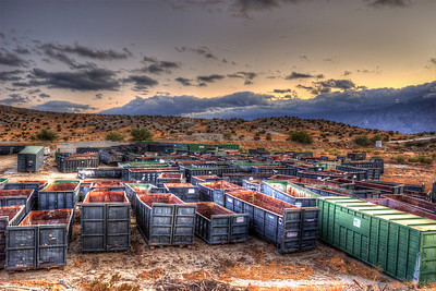 Dumpster Graveyard California This might be the nicest I've every seen dumpsters look.