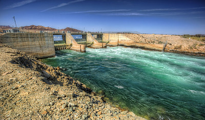 Dammed up  On the Colorado River, just north of Blythe, Ca on the border of California and Arizona.
