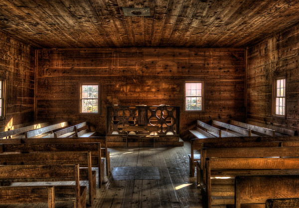 In the Church Tennessee Driving around Cades Cove there seems to be an extraordinary amount of old churches, especially compared to the lack of any other types of buildings.