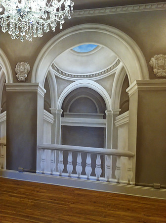 tromp l oeil 'gallery view' wall mural