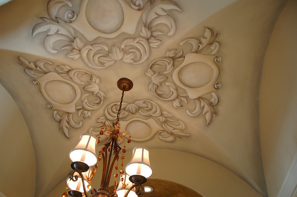 trompe l'oeil ceiling carvings