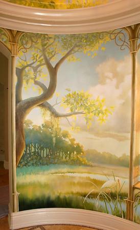 detail from rotunda mural 'st johns river morning'