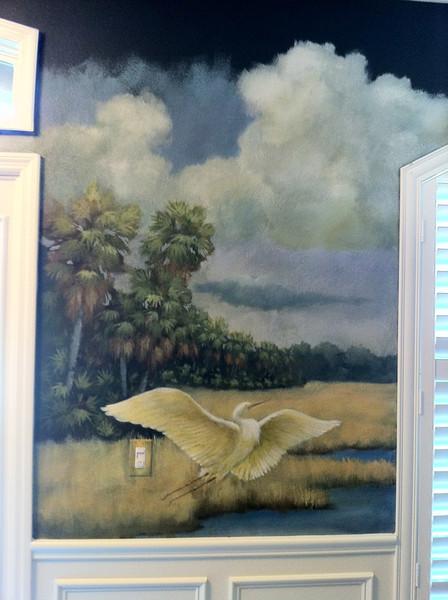 Florida landscape mural 'dry prairie afternoon'