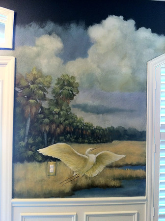 Florida landscape mural 'dry prairie afternoon'