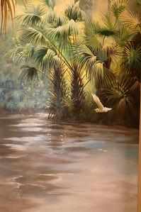Florida river scape 'cabbage palms'