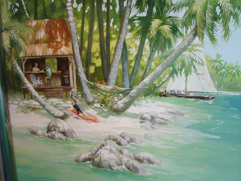 detail from 'island' mural