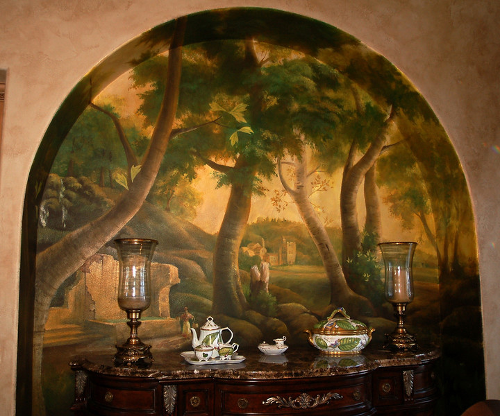 'old world' forest landscape