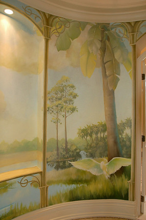 detail from rotunda mural 'st. johns river, morning'