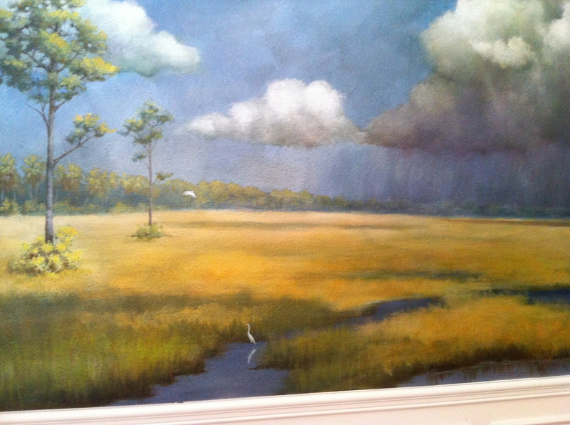 florida landscape mural 'dry praire afternoon'