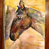 """""""Muneca""""- portrait of my mare. I donated her to my college polo team (Skidmore College)."""