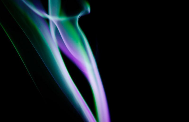 vase in smoke