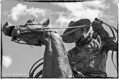 Bronze Sculpture at the BarU Ranch, Longview, AB, Canada by Rick Roenisch