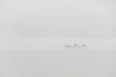 Ferry Foggy Outside