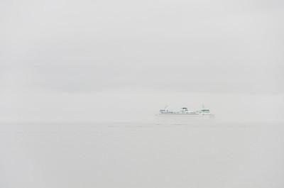 Ferry Foggy Outside