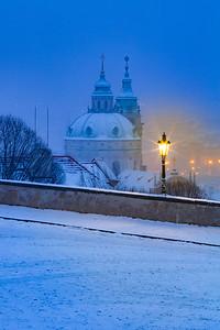 St. Nicholas dome under snow