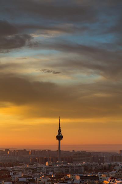 Sunrise over Madrid - TV Tower