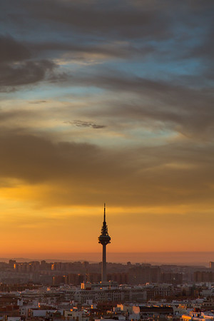 Sunrise over Madrid - TV Tower