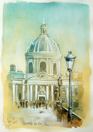 watercolor study of 'art academy'