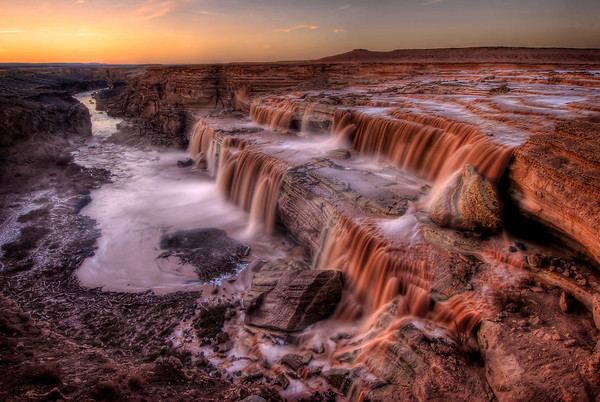 Grand Falls (Chocolate Falls) at Sunset