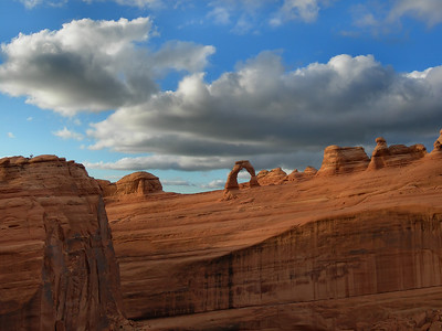 Delicate Arch From a Distance Arches National park, Utah.  Copyright © 2009 All rights reserved.