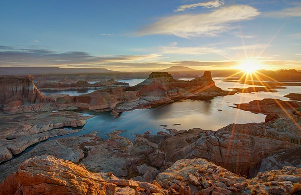 Sunrise at Alstrom Point Over Gunsight Bay