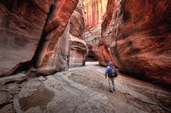 Self Portrait in Buckskin Gulch