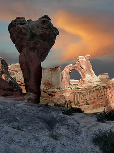 The Molar and Angel Arch (Sunrise) Canyonlands National Park, Utah.  Copyright © 2007 All rights reserved.