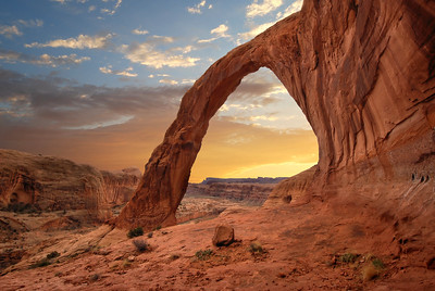 Corona Arch Sunset Moab, Utah.  Copyright © 2008 All rights reserved.