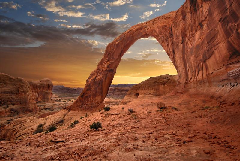 Corona Arch Sunset