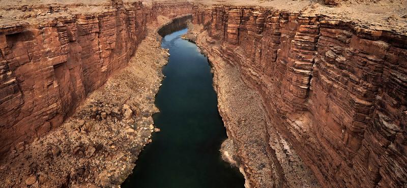 Colorado River Winds Through Marble Canyon
