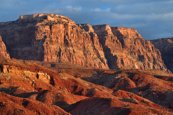 Vermilion Cliffs (Morning) Near Page Arizona.  Copyright © 2010 All rights reserved.