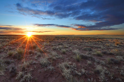 Sunrise over the Plains East of Holbrook, Arizona.   Copyright © 2011 All rights reserved.