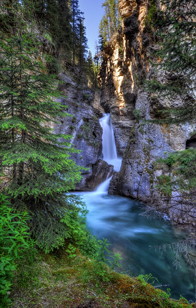 Lower Johnston Canyon Falls Banff National Park, Alberta Canada.  Copyright © 2009 All rights reserved.
