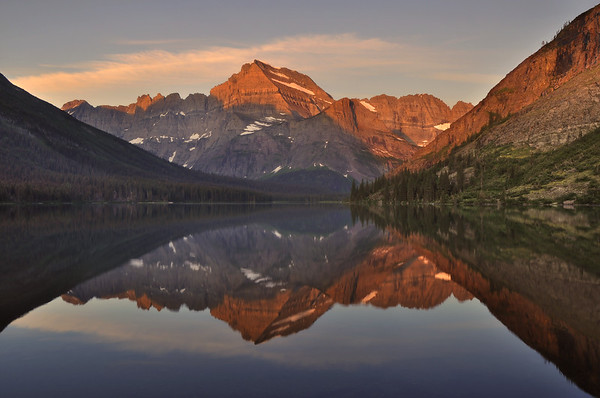 Mount Gould Reflection in Lake Josephine Glacier National Park, Montana.  Copyright © 2009 All rights reserved.