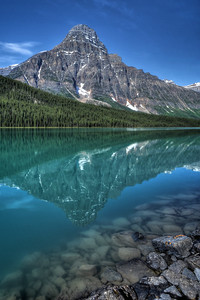 Reflections in Mistaya Lake Banff National Park, Alberta Canada.  Copyright © 2009 All rights reserved.